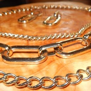 Cool Links Tri Chains + Link Earrings Set